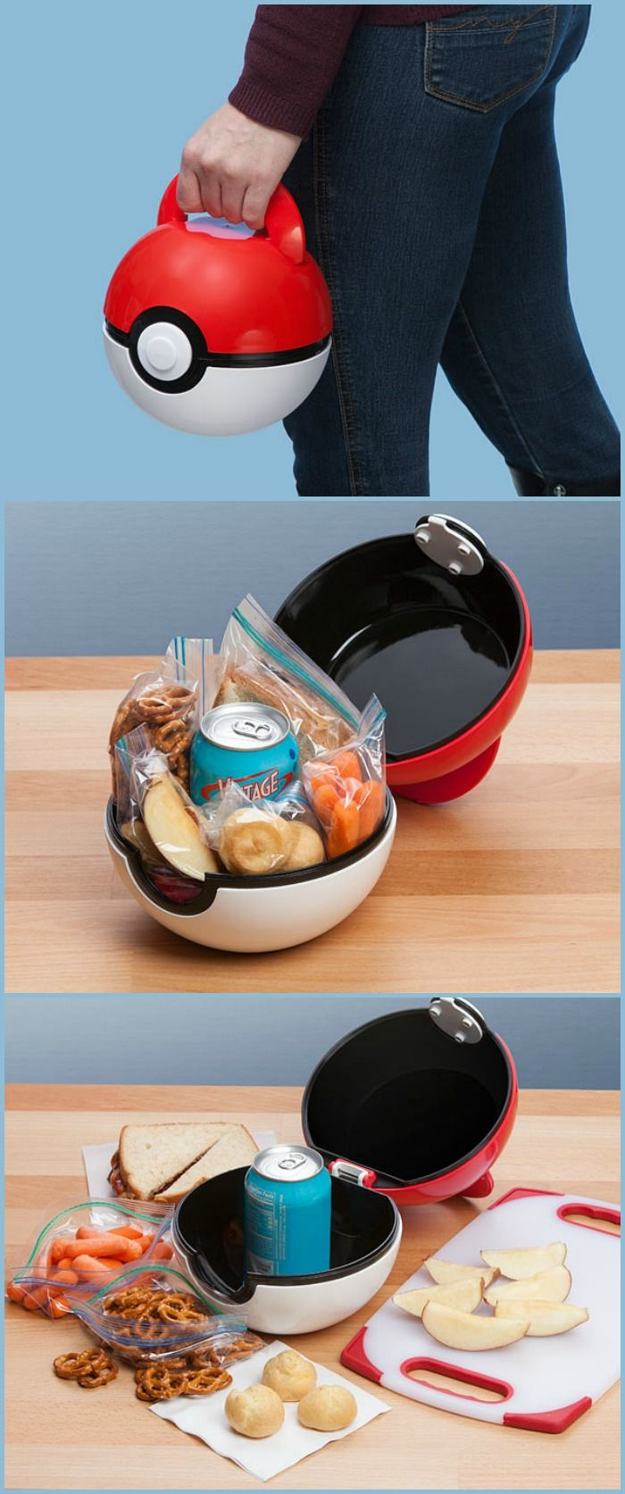 Poké Ball Lunch Case. Eat like a trainer.