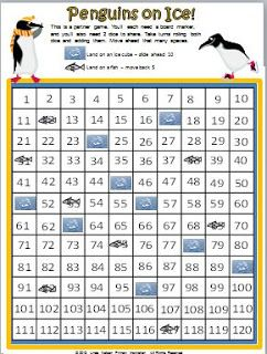 Classroom Freebies: Counting with the Penguins on the 120 Chart