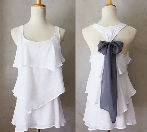 ASPEN AURA  by FleetCollection   what a beautiful DIY touch to add this bow to any flowy racerback tank