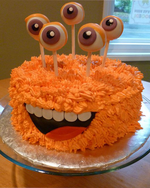 Monster Halloween Cake This One Was So Much Fun I Loved The Pop