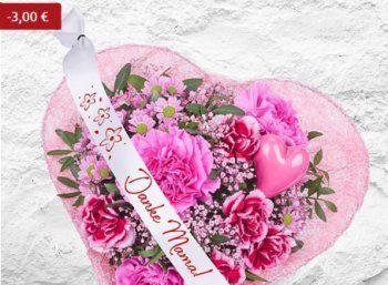 """Exklusiv: Muttertags-Präsent bei Valentins für 14,99 Euro frei Haus https://www.discountfan.de/artikel/technik_und_haushalt/exklusiv-muttertags-praesent-bei-valentins-fuer-1499-euro-frei-haus.php Discountfans können sich ab sofort bei Valentins ein Muttertags-Arrangement mit Schleife """"Danke Mama!"""" zum Vorzugspreis von 14,99 Euro mit Versand sichern – die Bewertungen für das Blumen-Präsent fallen sehr gut aus. Exklusiv: Muttertags-Präsent bei Valentin"""