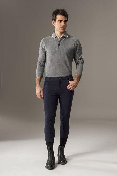 """Nuovo modello più comodo!! Pantalone equitazione uomo Equi-thème """"Pro Cotton"""" per monta inglese."""