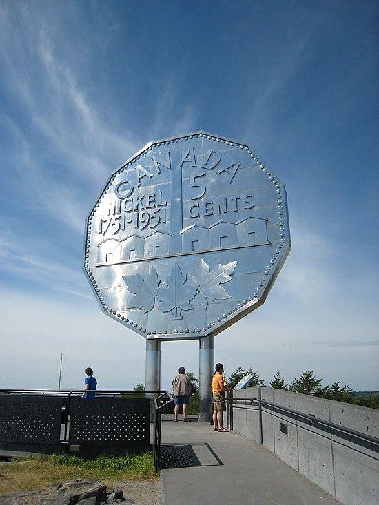 Giant nickel, Sudbury, Ontario, Canada