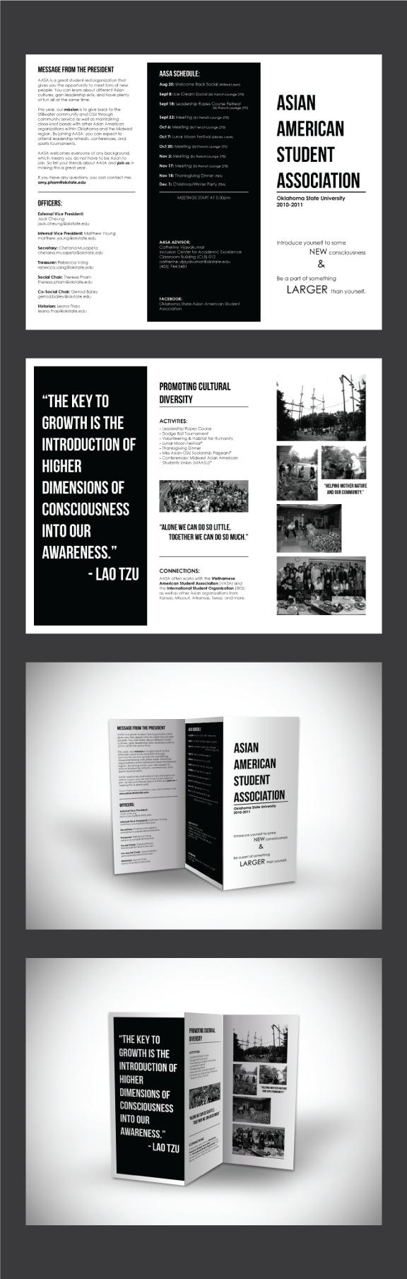 AASA Brochure 2010-2011 by Nalee Thao, via Behance