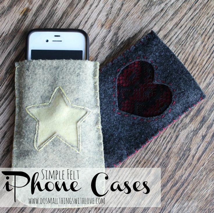 simple felt iphone case