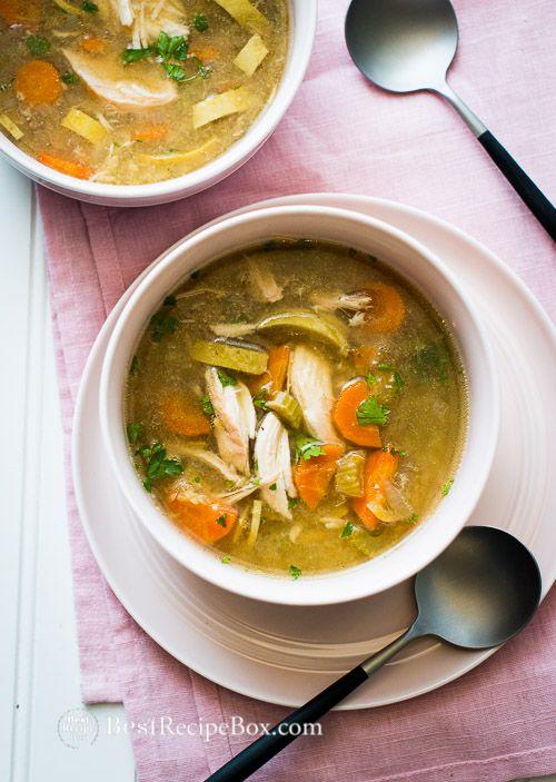Wonderful Slow Cooker Chicken Vegetable Soup Recipe from @bestrecipebox