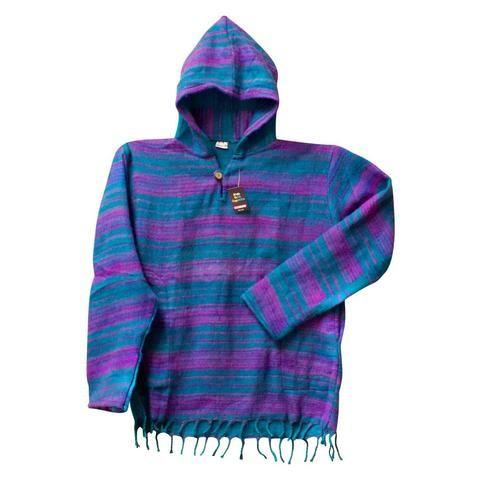 Wool Hoodies - Tasseled