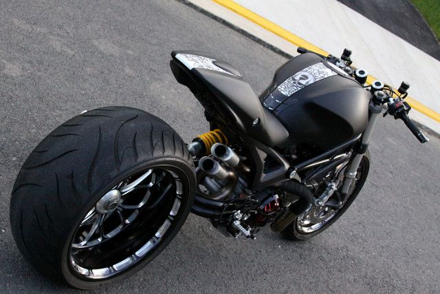 2009 Ducati Monster, Wayne Ransom edition. I love me some Ducati Monster. That would be the only crotch rocket id ever own.