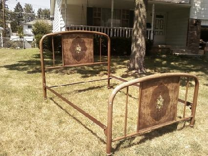 antique metal bed rails 3