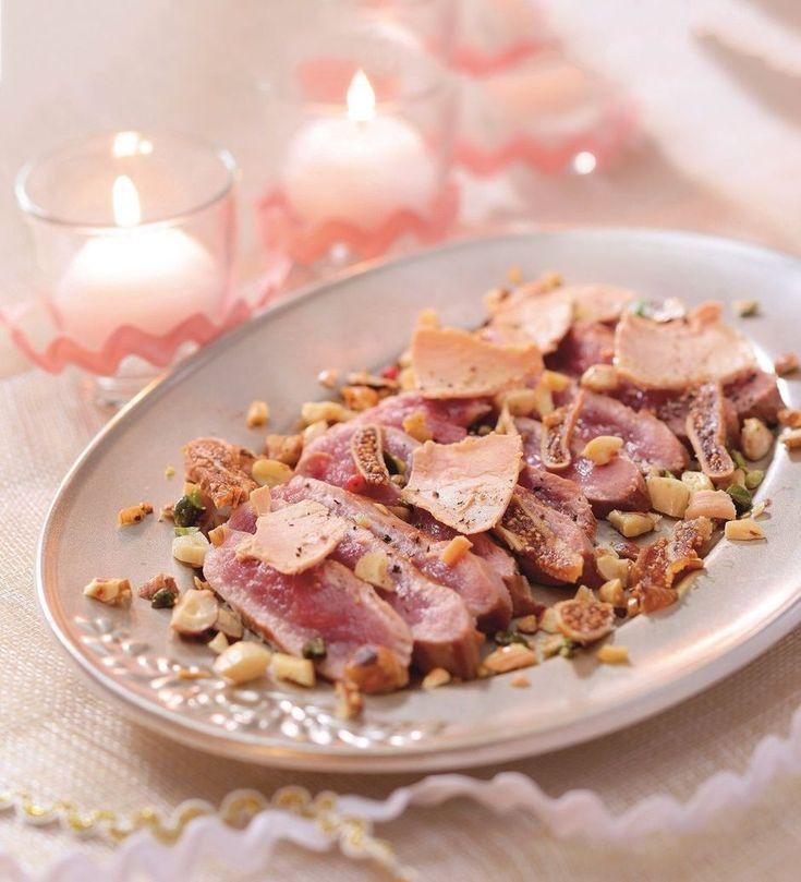 Rundvlees met foie gras, gedroogde vijgen en noten