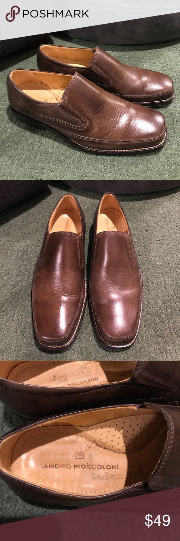 Sandro Moscoloni Leather Men's Lindsey Loafer Sandro Moscoloni Men's Leather shoes made in Brazil. Quality brown leather bought at Nordstrom. Size 10. Sandro Moscoloni Shoes Loafers & Slip-Ons