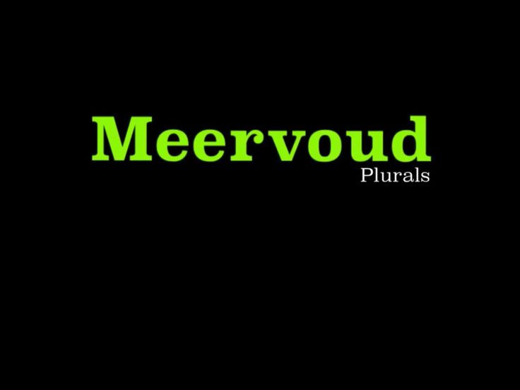 AFRIKAANS This is part 1 of the 2 part series on Meervoud and deals with the rules you really need to know. I cover basic rules, words ending with -f and -g, words tha...