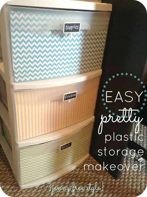 {Jenny Free Style}: Easy Plastic Storage Makeover