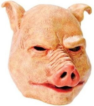 This scary ugly pig mask is perfect for Halloween your friends wont be snorting at this costume from www.party-head.co.uk £795