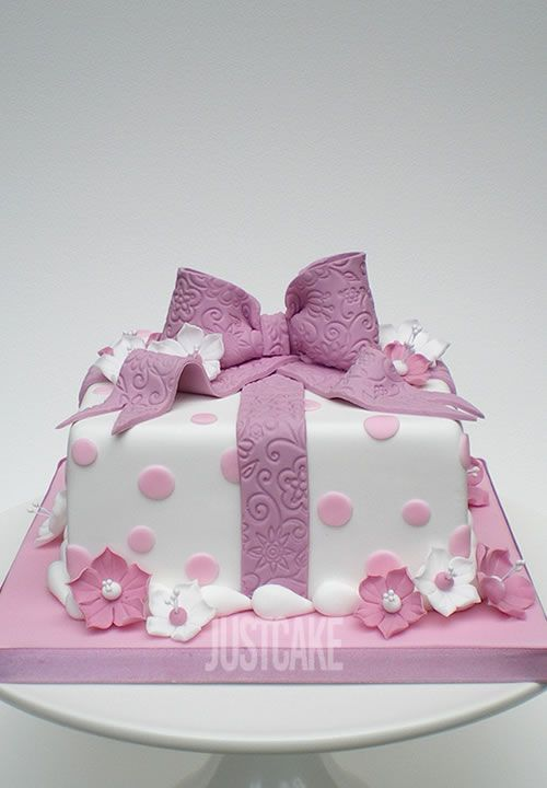 Pink Parcel Birthday Cake by Just Cake in Norfolk