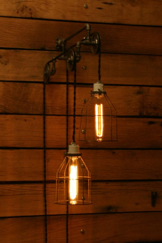 Industrial Pulley Light Trolley Wall Light Hanging Light Pendant