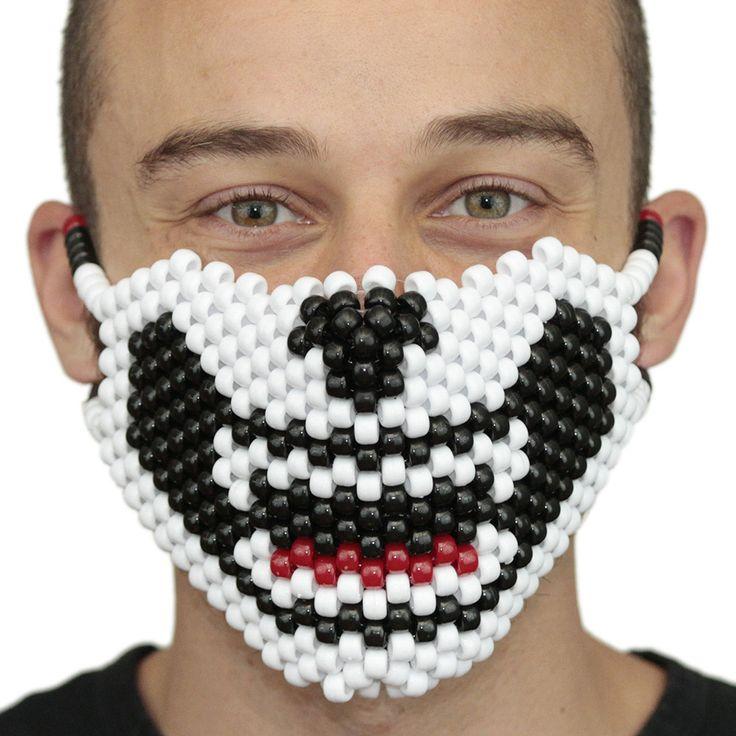 White and Black Cat Full Kandi Mask