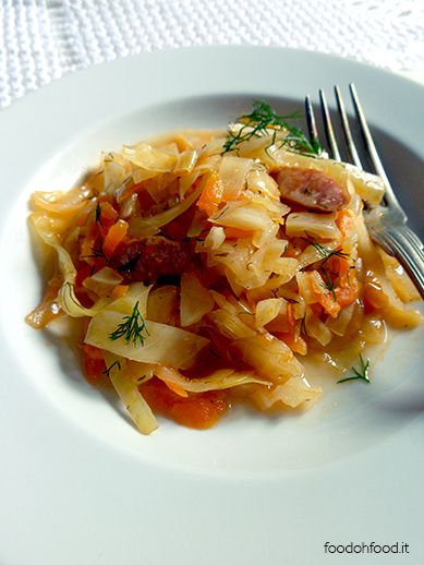 Polish comfort food. The cabbage stew is an excellent side dish or a vegetable second course.