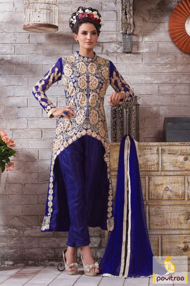Most gorgeous designer with royal blue beige party salwar suit in new fashion with offer online. It is speared with santoon, nazneen and georgette fabrics.  http://www.pavitraa.in/store/partywear-salwar-suit/ #salwarsuits, #salwarkameez, #dresses, #designersalwarsuits, #straightsalwarsuits, #embroiderysalwarsuits, #wholesalecatalog, #churidarsuit, #plazo, #festivaloffer Call/ WhatsApp : +91-7698234040  Email _Id : info@pavitraa.in
