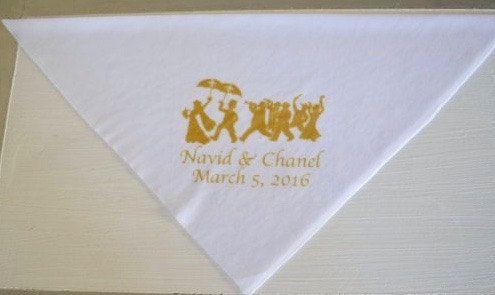 Second Line Handkerchiefs Wedding New Orleans Starting 1.01 apiece New Orleans parade art names date matte gold imprint