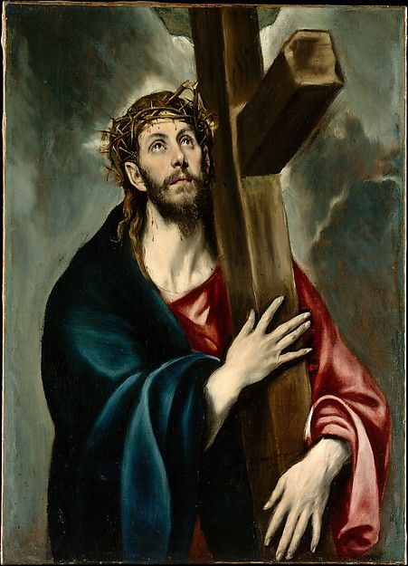 """El Greco (Domenikos Theotokopoulos) (Greek, Iráklion (Candia) 1540/41–1614 Toledo). Christ Carrying the Cross, ca. 1577–87. The Metropolitan Museum of Art, New York. Robert Lehman Collection, 1975 (1975.1.145)   This work is featured in """"El Greco in New York,"""" on view through February 1, 2015. #mustache #movember"""