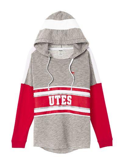 University of Utah Varsity Pullover Hoodie PINK