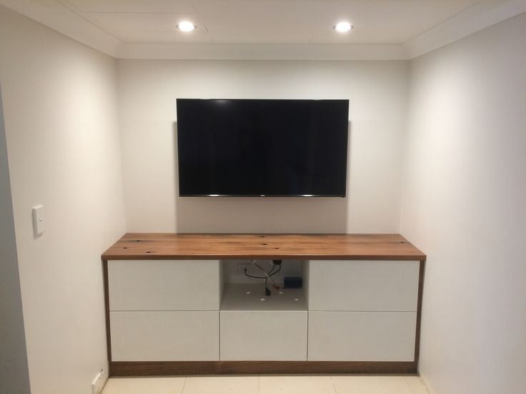 Tv Unit made from recycled wharf timbers built by Concepts Created