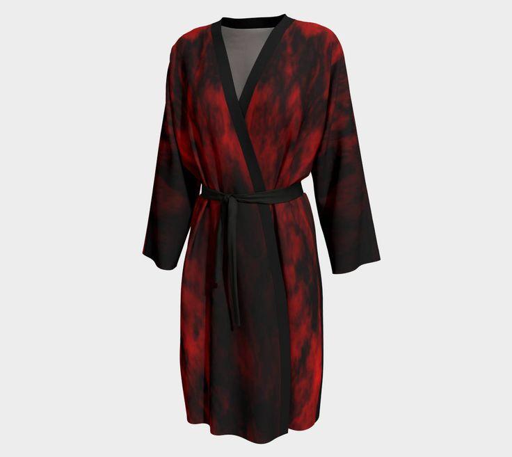 Excited to share the latest addition to my #etsy shop: Red Peignoirs Robe/Kimono Dressing Gown/Loungewear/Chiffon Fabric Robe/Bathrobe/Peachskin Jersey/Black Robe/Made to Order http://etsy.me/2i3VqUq #clothing #women #sleepwear #black #red #peignoirsrobe #blackandred #kimonodress