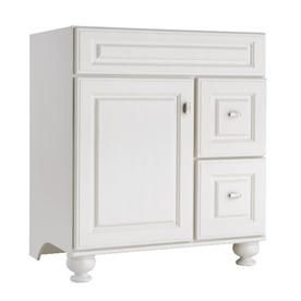 allen   roth Britwell Cream Traditional Bathroom Vanity (Common: 30-in x 21-in; Actual: 30-in x 21-in)