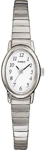 Timex Women's Cavatina Watch, Silver-Tone Stainless Steel Expansion Band