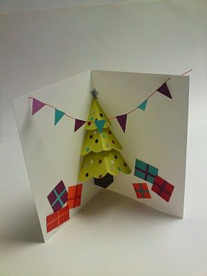 Pop up Christmas Tree card.  (Shannon, I'm basically about to repin everything you post, IGNORE ME)