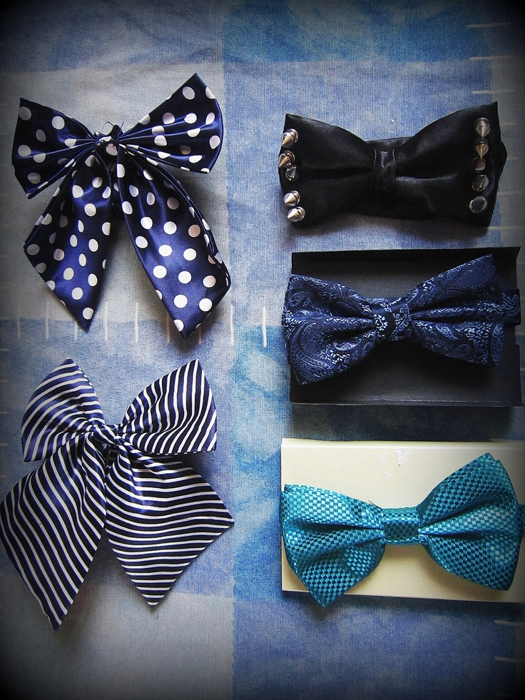 My bowties.. My favorite is the black one with spikes =)Bowties