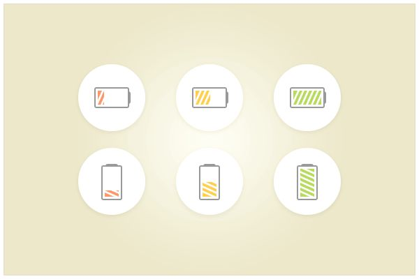 139 Battery Icons (freebie by pixelcave)
