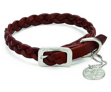 Collar de cuero para perros Style - marrón