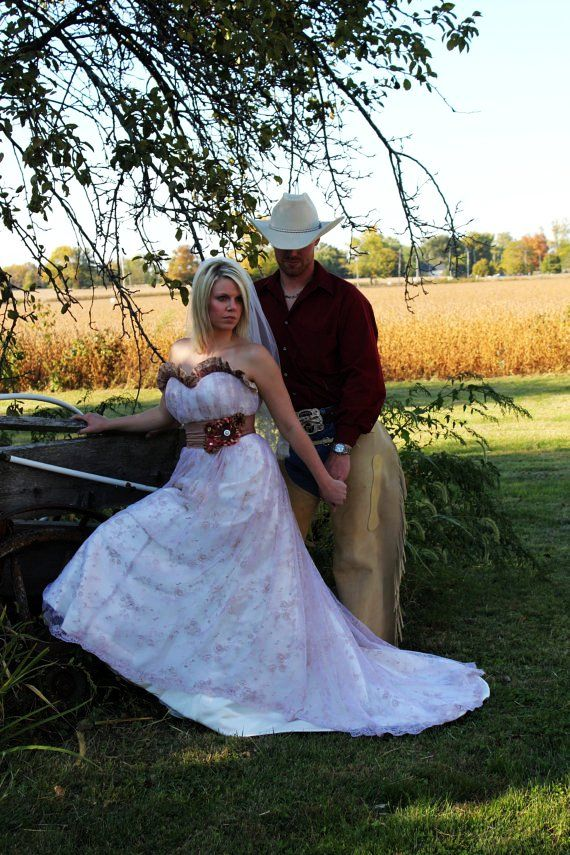 Country, Western, Wedding Gown