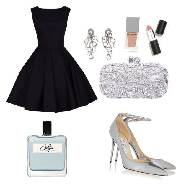"""Prom party "" by tereza-99 on Polyvore featuring Jimmy Choo, Saqqara, Sigma Beauty, Givenchy and Olfactive Studio"