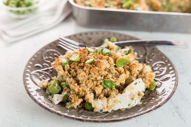 Un secondo primaverile a base di pollo, verdure, cereali e legumi