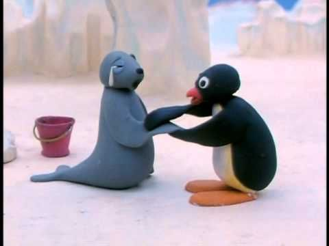The sounds Pingu makes and story is everything