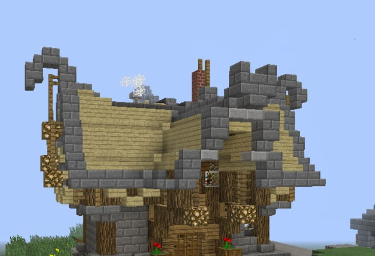 Fantasy Wooden House 4 - GrabCraft - Your number one source for MineCraft buildings, blueprints, tips, ideas, floorplans!