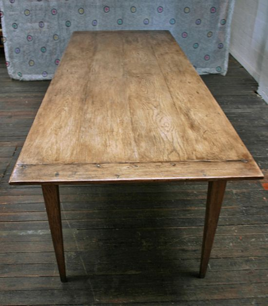 Our bleached Bone Oak dining table.