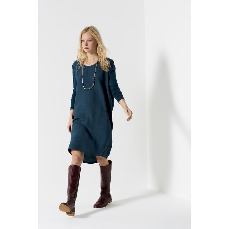 Shift your fashion into high gear this autumn with a classic style. In the perfect shift shape, our Mechanical Dress is a comfortable style which will transition from day to night. Warm and light with feature soft baby wool sleeves. | Fall & Winter Fashion