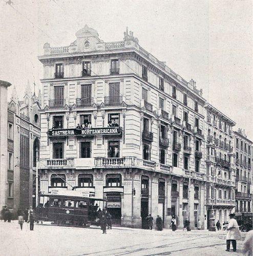 1908. Carrera de San Jerónimo esquina a Cedaceros   Flickr: Intercambio de fotos