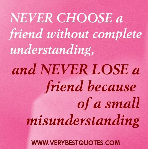 Friendship and misunderstanding.... http://freesamples.us/?source=email