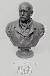 Bronze bust of Bismarck,  1815-1898, Sculptor: F. Schaper, March, 1885 (LC).