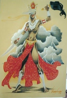 Oyá ou Iansã, orixá feminino dos ventos, relâmpagos, tempestade, trovão, do Rio Niger e também das paixões - Iansã - Oyá - linhadasaguas.com.br