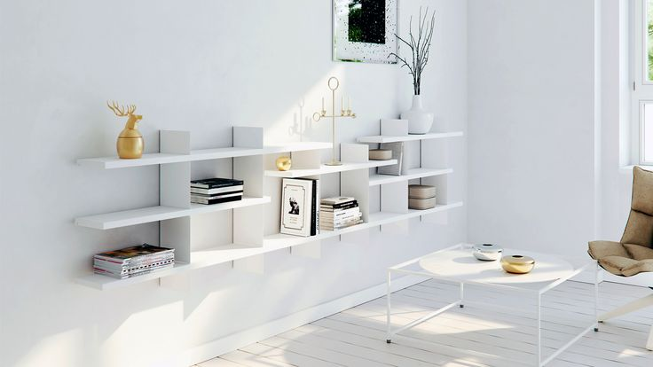 Wall system kliff from FuuXo in white interior