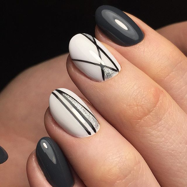 25+ best ideas about Line nail designs on Pinterest | Short nail ...
