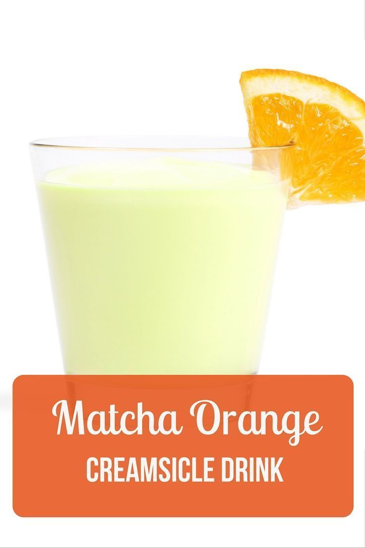 This orange creamsicle matcha drink is the perfect way to start your ...