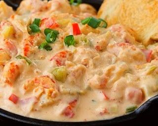 Creamy Crawfish Dip - A creamy blend of crawfish and cheese with the perfect amount of heat from the jalapenos (crab meat or shrimp could easily be substituted for the crawfish).