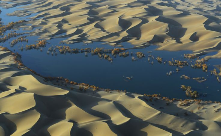 'Carbon sink' detected underneath world's deserts -- ScienceDaily